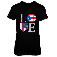 Puerto Rican Love Baseball Home USA Shirt