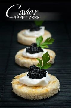black caviar appetizers