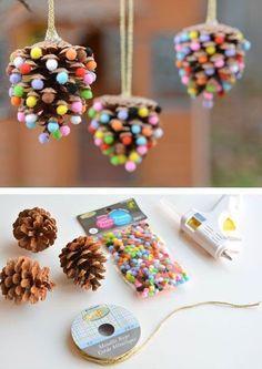 Decora tu árbol de #Navidad con tus propios #Arreglos navideños. #DIY #DIYAdornosDeNavidad #Navidad