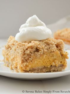 Pumpkin Cheesecake Crumb Bars are easy to make and perfect for the holidays!