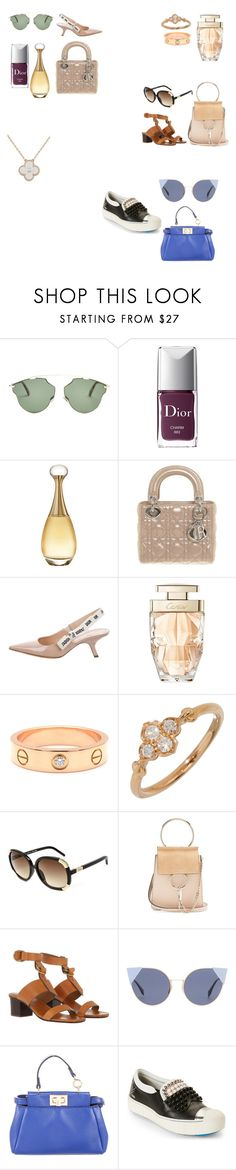 """Untitled #93"" by asrar-riyadh ❤ liked on Polyvore featuring Christian Dior, Cartier, Chloé, Van Cleef & Arpels and Fendi"