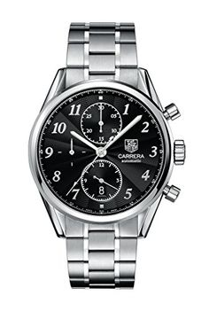 £2.8K TAG Heuer Men Stopwatch Watch with Black Dial Analog - Digital Tree 5 Star Reviews