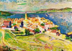 Vue de Saint-Tropez - Henri Matisse, 1904, Musée Albert-André Hôtel de Ville, Bagnols-sur-Cèze, France * 1 of 9 impressionist paintings on Nov 12, 1972 stolen and never recovered.