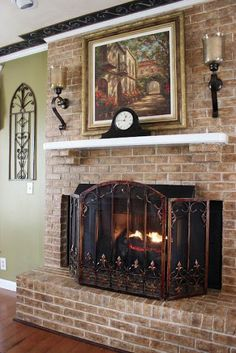 @ Kristinr Radley-Harris.  Reminds me of your fireplace.  See the brick supports under the mantel?