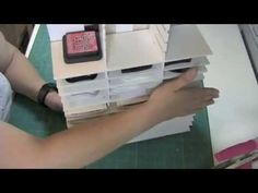 This video was inspired by jenniescrafts on YouTube. This ink pad storage piece is created from Foam Core Board and metal tape. This storage unit is sturdy a...