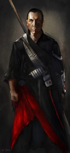 """""""I'm excited for Rogue One! Did a digital sketch of Donnie Yen"""" by Daniel Deng"""