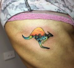 #tattoo #tattoos #tattooed #tattooing #tattooink #tattooaustralia #australia #kangarootattoo #kangaroo #sunset #sunsettattoo #12apostles #memory #memorialtattoo #colortattoos #tattoocolor by sandrotattooer http://ift.tt/1ijk11S