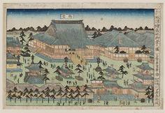 新版浮絵 築地御堂の図 Hall [of the Hongan-ji Temple] at Tsukiji,Museum of Fine Arts, Boston