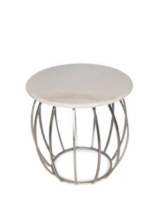Amelia Silver Side Table 50cm x 50cm x 50cm