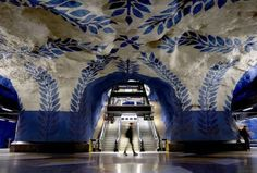 Subway station in Stockholm, Sweden #swedish where every subway is an art exhibition  #stoccolma #arte #galleria #metro #svezia