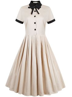 ReoRia Women's 40s 50s Style Short Sleeve Rockabilly Picnic Swing Vintage Dress ** Quickly view this special product, click the image : Plus size fashion
