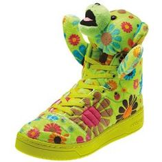 6c99c1917b0f Adidas JS by Jeremy Scott Bear Flower Power High Top Sneaker
