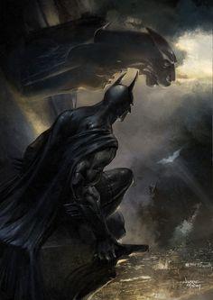 'The Signal' Digital Painting. Photoshop. #Batman