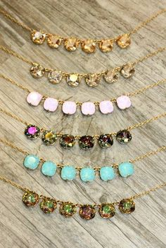 Catherine Popesco necklaces! Catherine Popesco La Vie Parisienne Jewelry with Swarovski Crystals in EVERY color! Available at Eve Marie's in Hattiesburg, Mississippi! The absolute best selection and a perfect addition to any wardrobe! And a great gift idea :) 601-450-0559