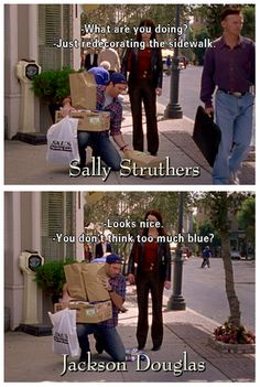 decorating the sidewalk - luke & lorelai : gilmore girls Rory Gilmore, Gilmore Girls Funny, Gilmore Girls Quotes, Tv Quotes, Girl Quotes, Movie Quotes, Funny Quotes, Best Tv Shows, Best Shows Ever