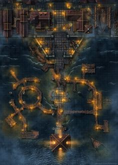 Fantasy Town, Fantasy Map, Fantasy World, Dnd World Map, Building Map, Rpg Map, Dungeon Maps, Dungeon Tiles, Map Pictures