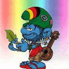 Rasta smurfs - more smurfish by AliceSacco on DeviantArt Marijuana Art, Marijuana Funny, Medical Marijuana, Stoner Art, Weed Art, Puff And Pass, Smoking Weed, Trippy, Cartoon Characters