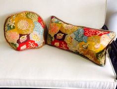 A couple of cushions from original 50s undersea world fabric