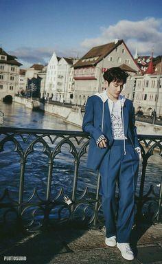 Suho says he wants to go skiing in Switzerland with his members in 'Allure'! Chanyeol Baekhyun, Exo K, Park Chanyeol, Fandom, K Pop, Kim Joon Myeon, Go Skiing, Exo Ot12, Kim Minseok