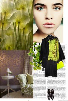 """neon freshness."" by broshka ❤ liked on Polyvore"