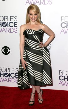 Melissa Rauch from 2016 People's Choice Awards Red Carpet Arrivals  The Big Bang Theory star stunned in zebra stripes.