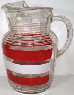 Vintage 1950'S Hazel Atlas Glass Pitcher