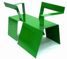 """""""Two-Way Bench Conversation Chair""""#analinares #bench #chair #conversationchair #design #creativeacademy"""