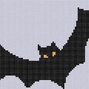 Bat 3 Cross Stitch Pattern  - via @Craftsy
