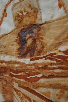 Rust on Textile Art with thanks to zamirte, Study Resources for Art Students, CAPI ::: Create Art Portfolio Ideas at milliande.com, Art School Portfolio Work