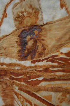 Rust on Textile Art with thanks to zamirte, Study Resources for Art Students, CAPI ::: Create Art Portfolio Ideas at milliande.com, Art School Portfolio Work