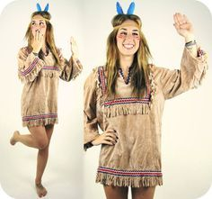 vintage native american fringe top costume by goodtimeisland - Native American Costume Halloween