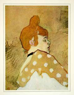 1939 Print Goulue Henri Toulouse-Lautrec French Portrait Art Louise Weber Moulin