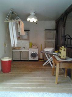 Lundby renovation laundry room diy miniature