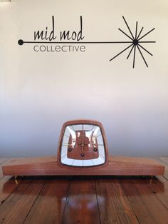 MCM mantle clock. Available now at Mid Mod Collective. Email midmodcollective@gmail.com for more info. SOLD!
