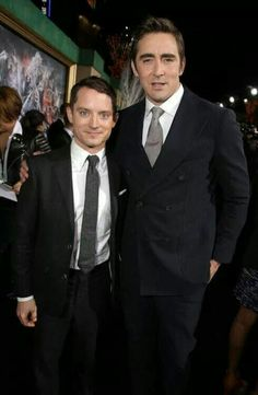 Elijah Wood and Lee Pace, aww look at the cute little hobittsess