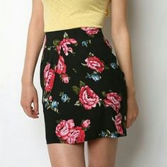 """*HP!* Kimchi Blue Black Floral Tulip Mini Skirt *5/25/16 Style Obsessions Party Host Pick* Kimchi Blue brand skirt from Urban Outfiters, size 4, in excellent condition! This is a tulip style mini skirt with a top and bottom layer. There is no stretch. Print is a large pink floral on black background. Zips at back. Cover photo is from UO website. 13"""" waist, 15.5"""" length. Please ask any and all questions before purchasing. No trades. Make a reasonable offer. Thanks! Urban Outfitters Skirts…"""