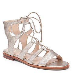Vince Camuto Tany Metallic Ghillie Gladiator Sandals #Dillards