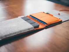 The Felt Case mini is a simple, sleeve-style case for the iPad. It'll fit an iPad mini with or without a Smart cover, and it has a cool (removable) analog pouch that'll fit a Field Notes-sized notebook and a pen or pencil.