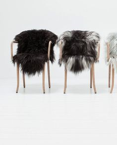 Loving these fury chairs, great piece to put in your home in the winter
