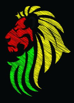 reggae music tiger flag colors vector canvas metal poster cool dj awesome illustration art artwork Animals