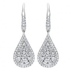 14k White Gold Diamond Drop Earrings  0.78 ct EG11971W44JJ