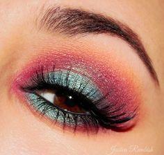 Aurora by Jessica Rembish (ohsojess) - Makeup Geek, Blue, Purple, Eye Makeup, Brown Eyes