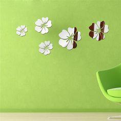 Floare Hibiscus DIY Creativ, Decoratie Casa, Oglinda perete autocolanta