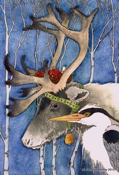 Du Nord hiver ORIGINAL painting Danielle Barlow