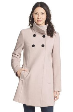 Main Image - Larry Levine A-Line Babydoll Coat (Regular & Petite) Blazers For Women, Coats For Women, Cool Style, My Style, Double Breasted Coat, Couture, Wool Coat, Work Wear, Baby Dolls