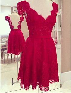 Vestido de Festa Curto Vermelho