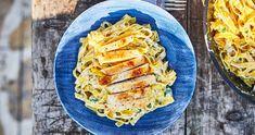 Alfredo csirke: a legfinomabb tejszínes tészta | Street Kitchen Quiche, Zucchini, Vegetables, Breakfast, Kitchen, Recipes, Food, Street, Morning Coffee