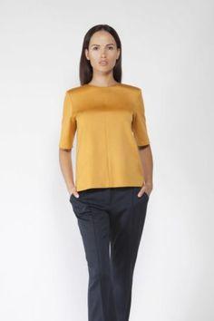 Блузка горчичного цвета Office Style, Office Fashion, Peplum, Tops, Women, Office Attire, Office Looks, Veil, Woman