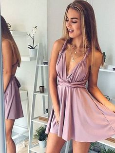 Homecoming Dress V-neck, Homecoming Dress A-Line, V-Neck Prom Dresses, Short Homecoming Dress, Prom Dresses Sexy Homecoming Dresses 2019 Sexy Homecoming Dresses, Cheap Short Prom Dresses, Backless Prom Dresses, Satin Dresses, Sexy Dresses, Dress Prom, Simple Dresses, Graduation Dresses, Formal Dresses