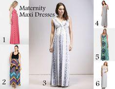 6 Maternity Maxi Dresses
